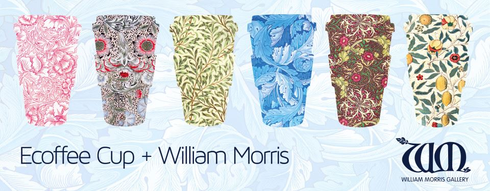 0031020 ecoffee cup ecoffee cup bamboo 400 ml william morris thief with orange silicone 5060136005398 1