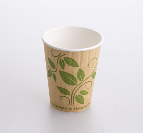 104427 12oz DW Biodegradable (PLA) hot paper cup (20x50)